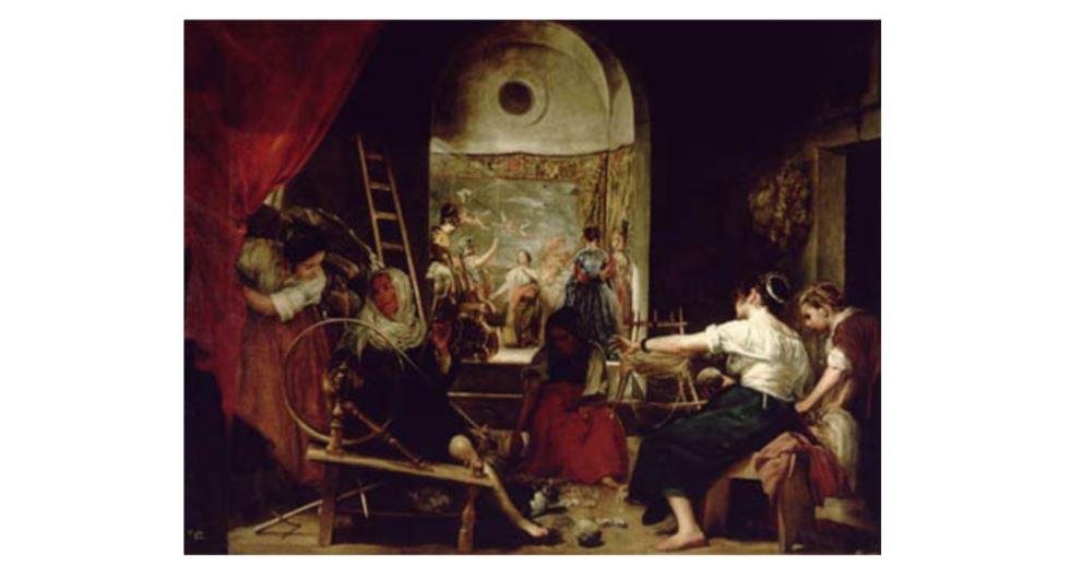 """Las Hilanderas o """"La Fabula de Aracne"""" de Diego Velazquez Fecha de la obra, alrededor de 1657"""